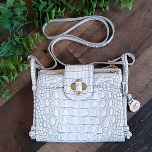 Brahmin White Crossbody